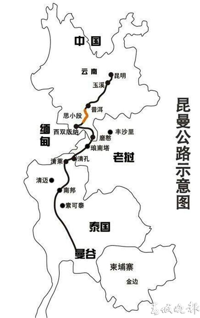 云南省西双版纳州地图展示